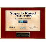 Super Rated Attorney Award